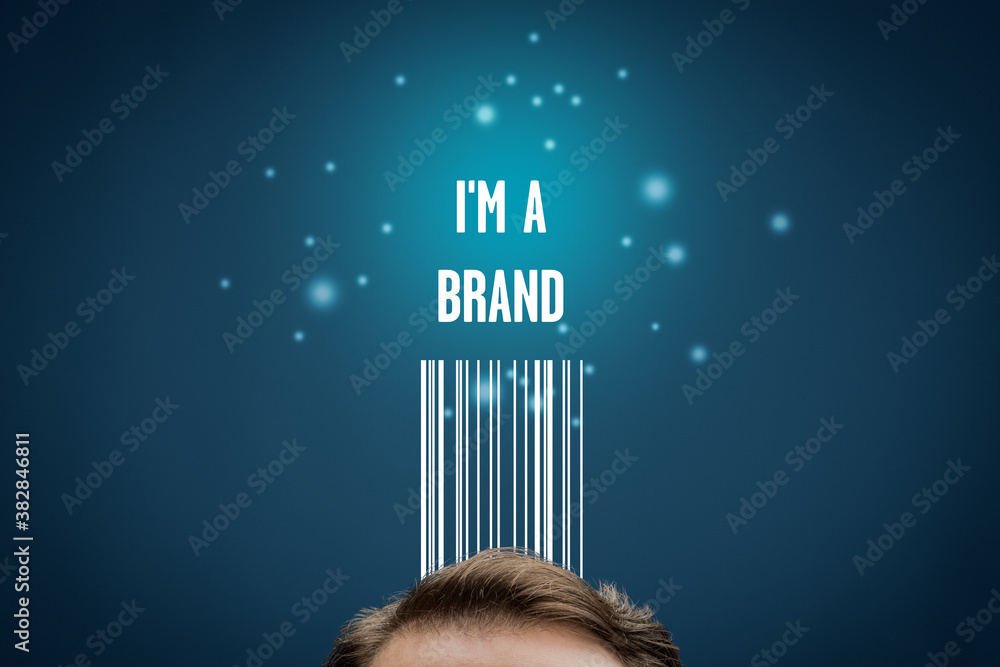 Fototapeta I am a brand - marketing with personal branding concept