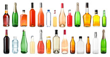 Set Of Bottles With Different ...
