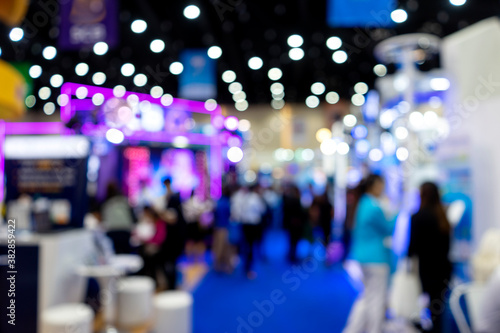 Blur image of  Exhibition trade fair  event convention hall Canvas Print
