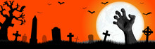 Halloween Undead Hand In Front...