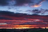 krajobraz wschód słońca niebo chmury natura wieś