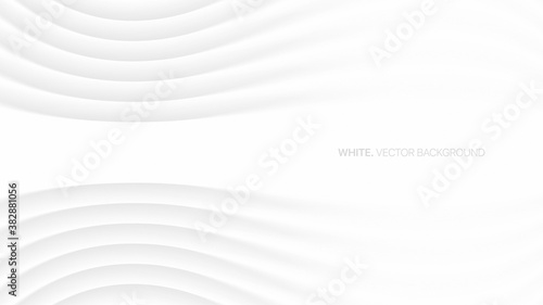 Fotografie, Obraz Minimalistic Elegant White Abstract Background 3D Vector