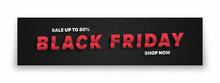 Black Friday Sale 3D Vector Ba...