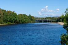 Bridge Over The River Lochy In Fort William