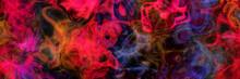 Abstract Colorful Neon Smoke S...