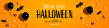 Halloween Sale Banner With Bla...