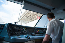 Interior Of A Train Operator's...