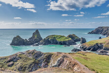 Kynance Cove In Cornwall England On A Sunny Day