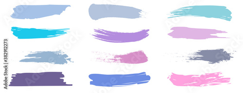 Photo A set of brush strokes for make-up