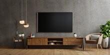 Tv On Cabinet The In Modern Li...