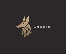 Anubis Head Logo Design Template Vector