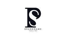 Alphabet Letters Initials Monogram Logo PS, SP, P And S