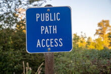 Public Path Access Sign Leads ...