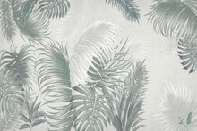 The Leaves Of The Palm Trees,m...