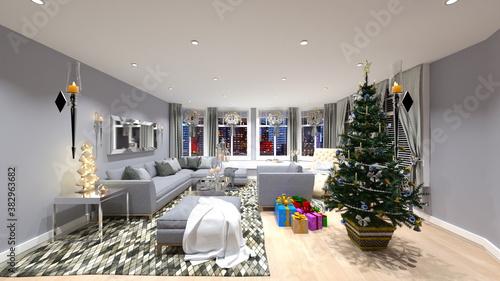 Fototapeta クリスマスハウス obraz