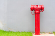 Single Red Fire Hydrant Stand ...