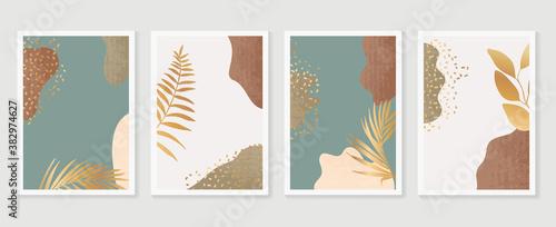 Canvastavla Gold botanical wall art vector set