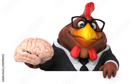Fun chicken - 3D Illustration Fototapeta