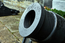 Detail Of An Old Cast-iron Can...