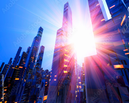 Obraz na plátně 未来都市