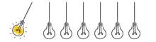 Hang Light Bulb Startup