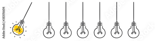 hang light bulb startup Canvas Print