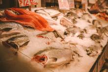 Seafood, Pike Place Market, Seattle