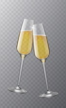 Two Champagne Glasses. Christm...
