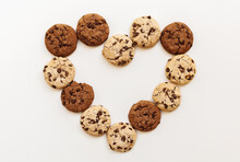 Chocolate Chip Cookies Heart S...