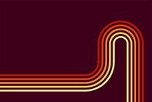 70s Style Orange Shades Beams Dark Background