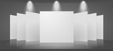 Vector 3d Blank Template Of An...
