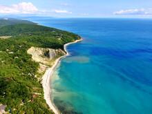 Black Sea Lagoon Coastline Aer...