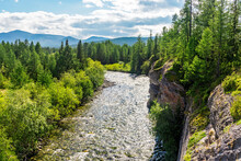 Mountain River Flowing Among T...
