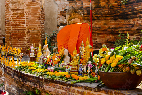 Papel de parede Beautiful photo of buddist temple stupa ruin, Ayutthaya taken in thailand