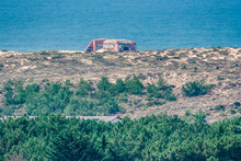 Sand Dunes With Bunker In Fron...