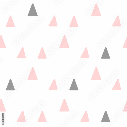 Fototapeta Cute seamless pattern with repeated triangles