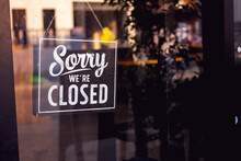 Vintage Sorry We Are Closed Si...