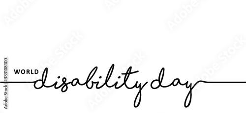 Slogan World Disability Day Fototapete