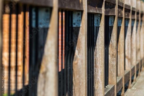 Obraz Stary drewniany wytarty płot  - fototapety do salonu