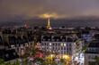 canvas print picture - Nächtlicher Blick von Centre Pompidou auf Paris 2