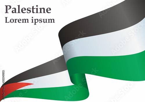 Fotografie, Obraz Flag of Palestine, State of Palestine