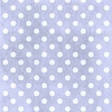 Blue Polka Dots Distressed Pattern In Periwinkle Shades Of Blue For 12x12 Design Elements And Spotted Backgrounds.