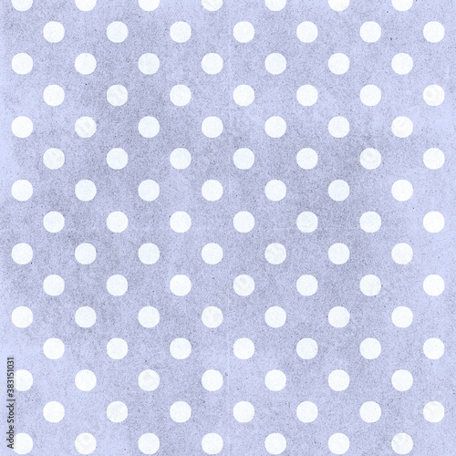 Fototapeta Blue polka dots distressed pattern in periwinkle shades of blue for 12x12 design elements and spotted backgrounds
