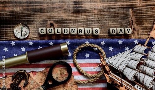 Columbus Day background Poster Mural XXL