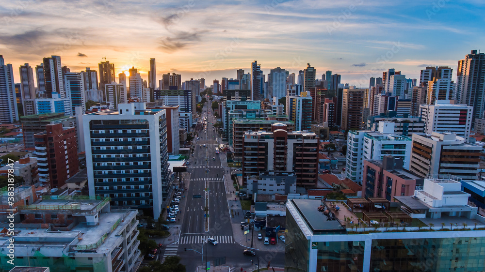 Fototapeta João Pessoa, cidade onde o sol nace primeiro! A capital da Paraíba, Brasil!