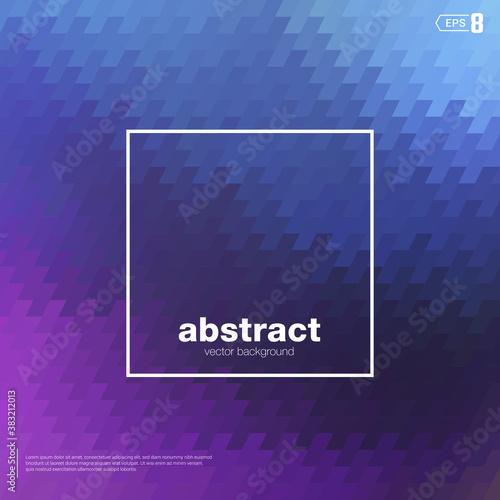 Blur nebular Mosaic Vector background blue and violet color Wallpaper Mural