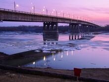 Ice Drift On The Irtysh River ...