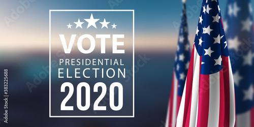 Fototapeta Vote 2020 obraz na płótnie