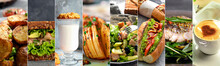 Collage Of Food Products. A Va...