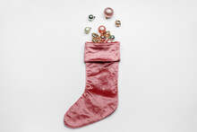 Christmas Sock With Decor On W...